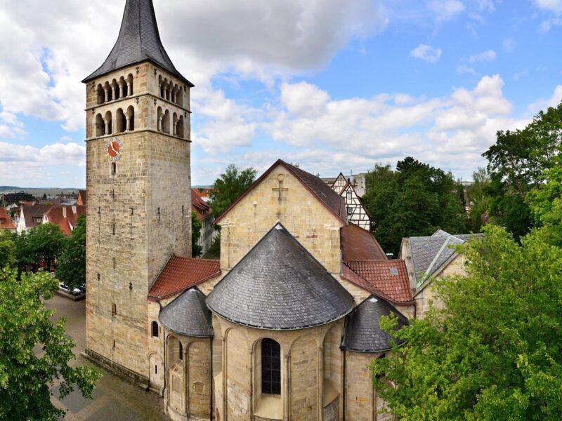 Kloster Stadt Sindelfing von schräg oben
