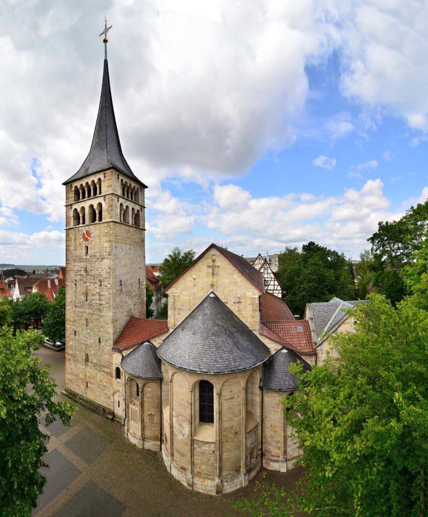 Kloster Stadt Sindelfingen von schräg oben